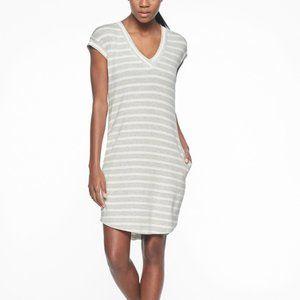 Athleta Dress Striped French Terry V Neck - Size L